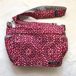 Ju Ju Be Diaper Bag - Red Scarlet Petals Messenger